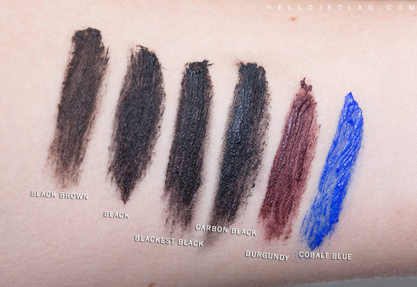 L'Oreal Voluminous Mascara Swatches