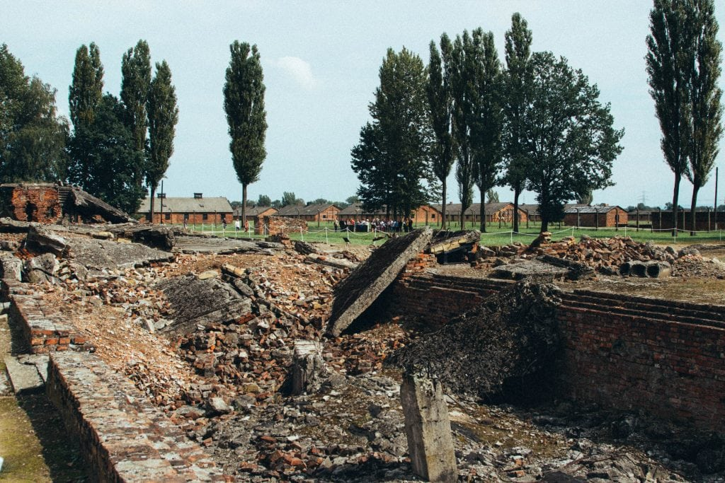 Remains of Gas Chamber in Birkenau