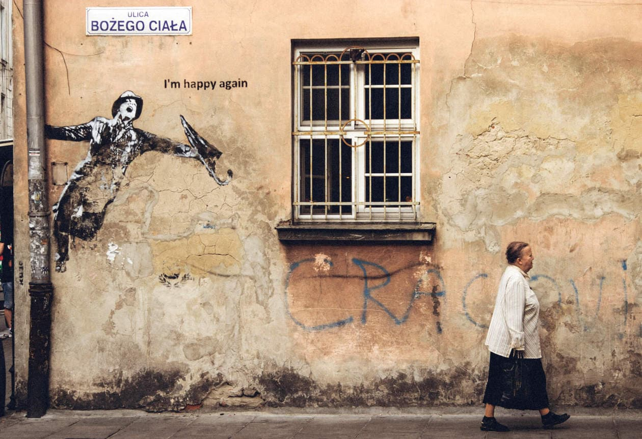 Krakow Street Art : I'm Happy Again