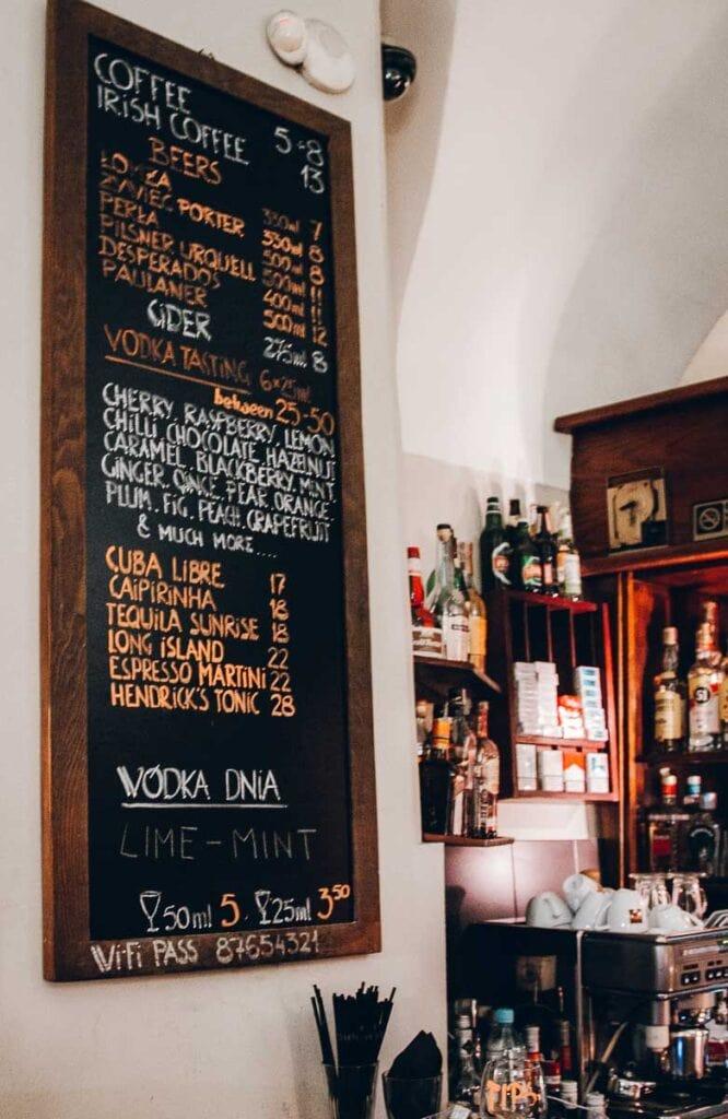 Polish Vodka Tasting in Krakow, Poland