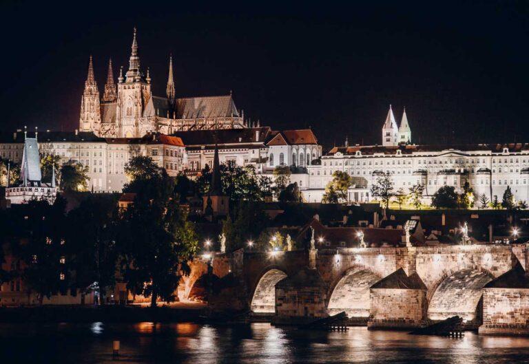 The Best Views in Prague // Charles Bridge from the Karlovy Lazne Tram Stop