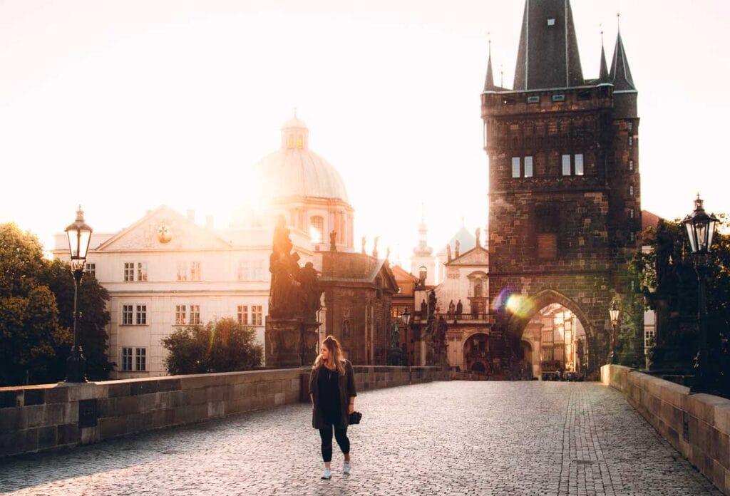 Prague Charles Bridge at Sunrise // Travel Tips