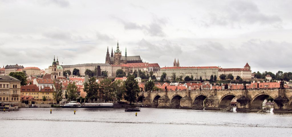 The Best Views in Prague // Charles Bridge from the Karlovy Lazne Tram Stop
