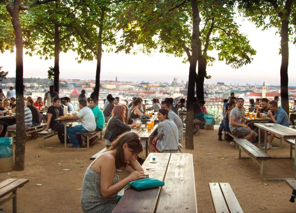 Where to Go in Prague for the Best Views of the City // Letna Beer Garden