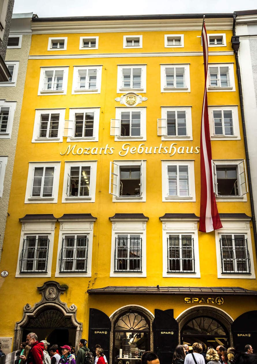 The Top 10 Things to do in Salzburg, Austria // Visit Mozart's Birthplace and Residence