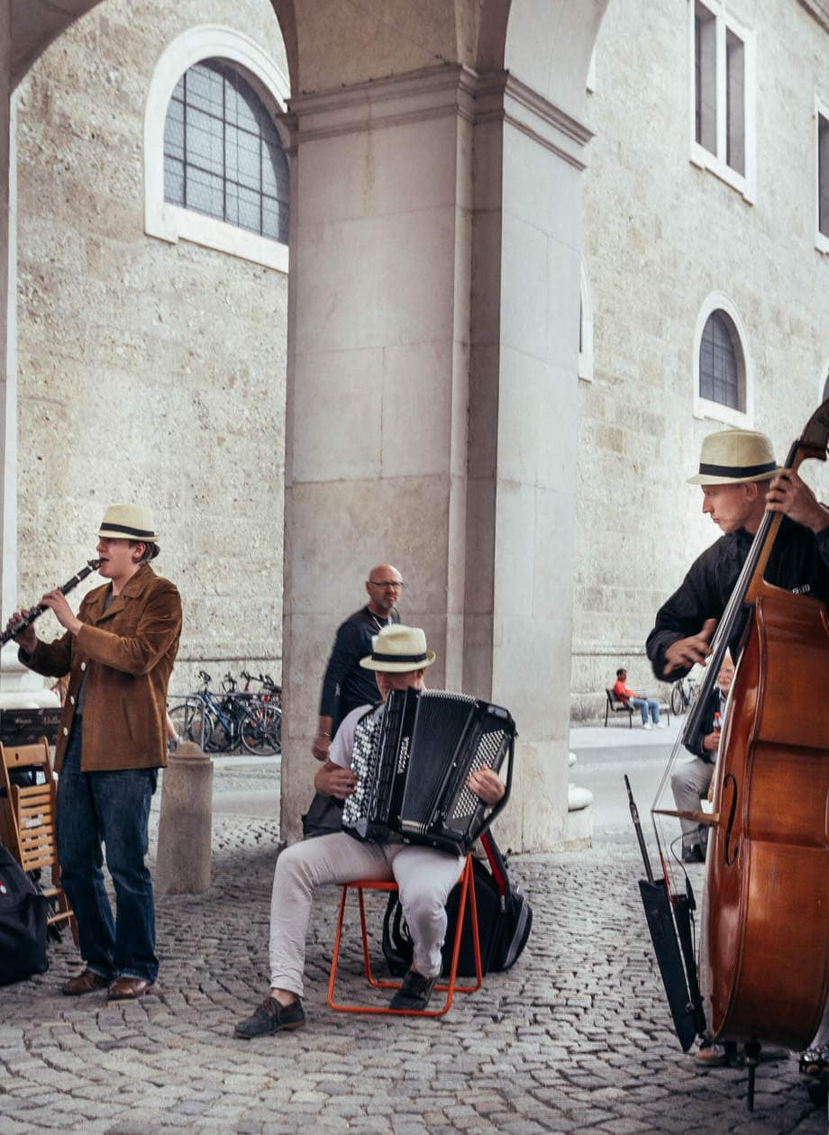 The Top 10 Things to do in Salzburg, Austria // Street Performers playing classical music in Salzburg