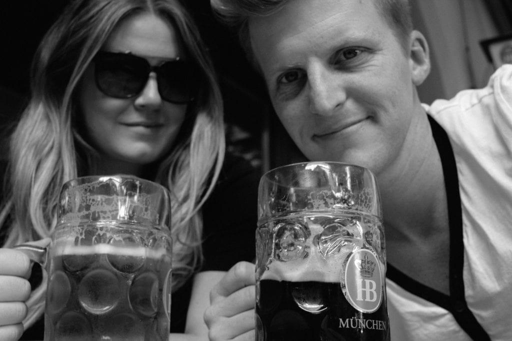 Drinking beer in Munich