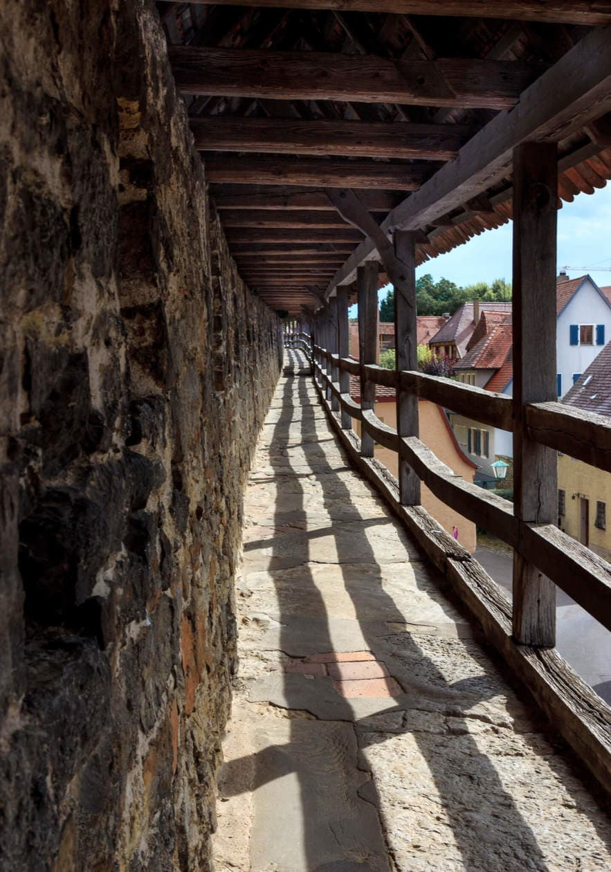 Walking the Rothenburg Ob Der Tauber Walls
