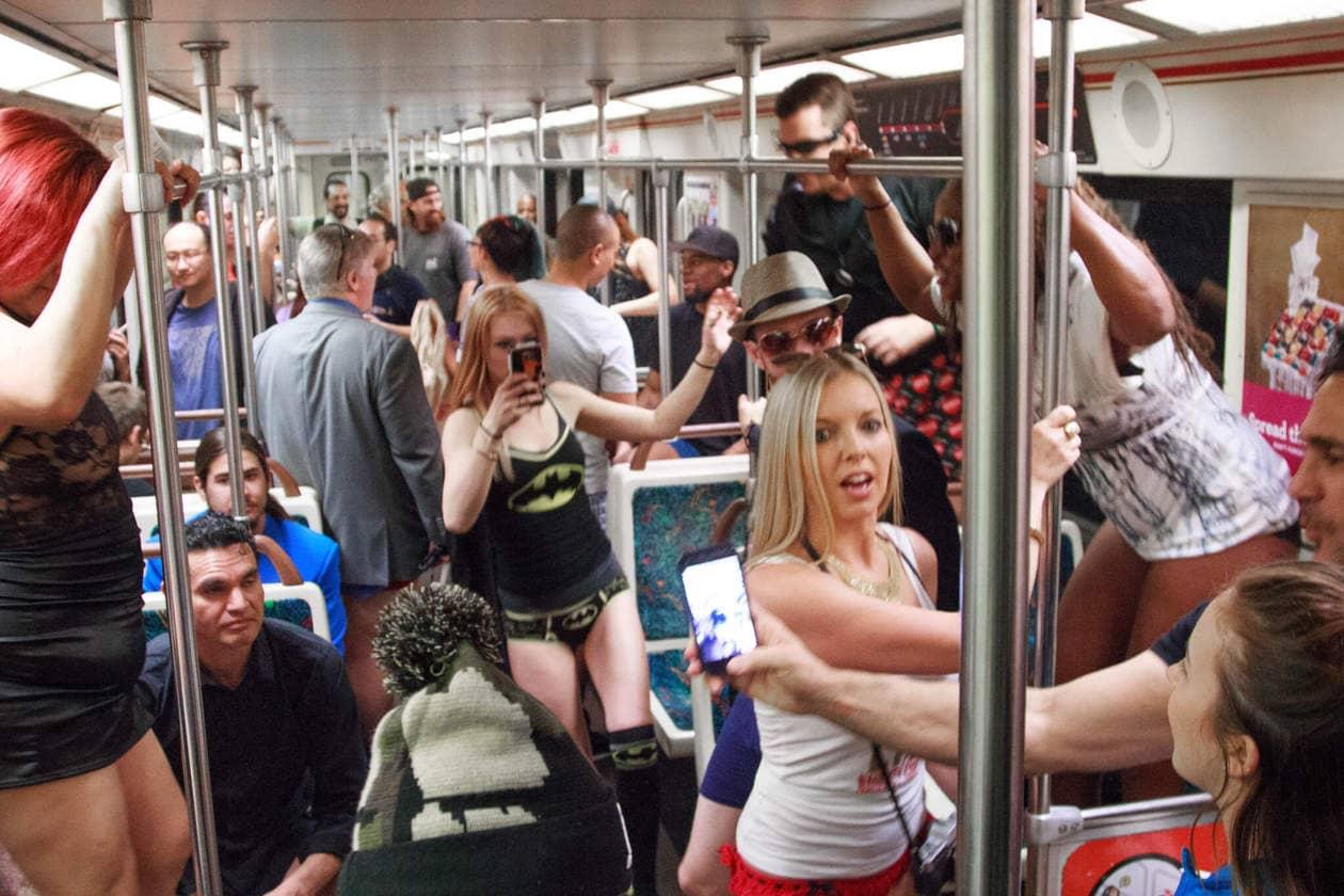 No Pants Metro Ride Los Angeles