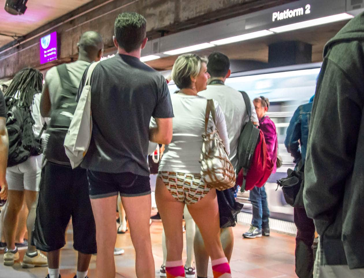 No Pants Subway Ride Los Angeles