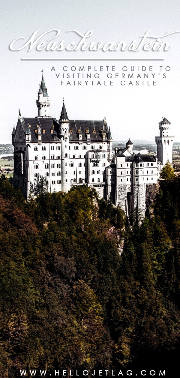 Neuschwanstein Castle is Germany's most photographed and popular fairytale castle. Keep reading for a complete guide to visiting Neuschwanstein Castle including photos, how to get there from Munich, how to buy tickets, where to find the best view and more.