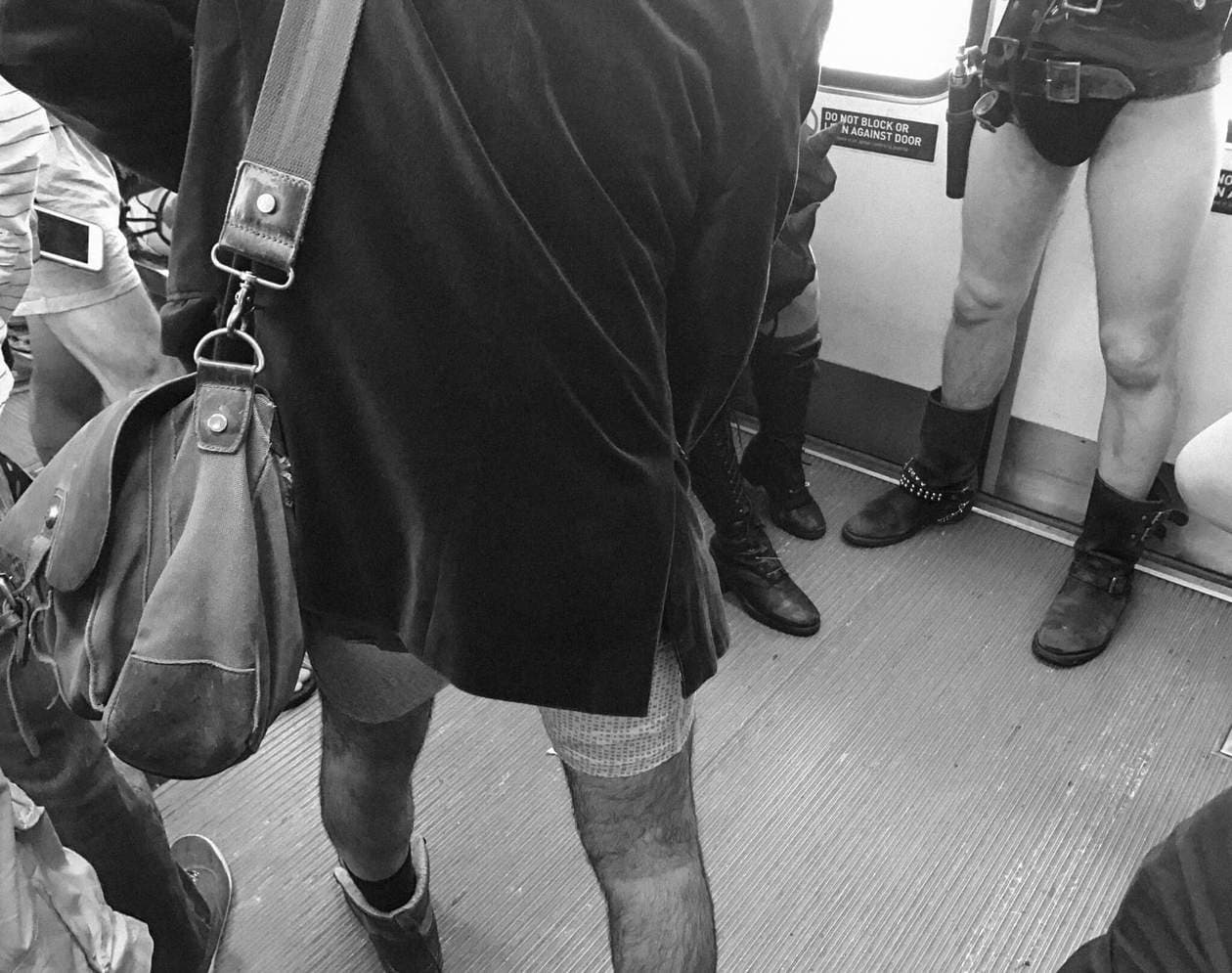 No Pants Metro Ride
