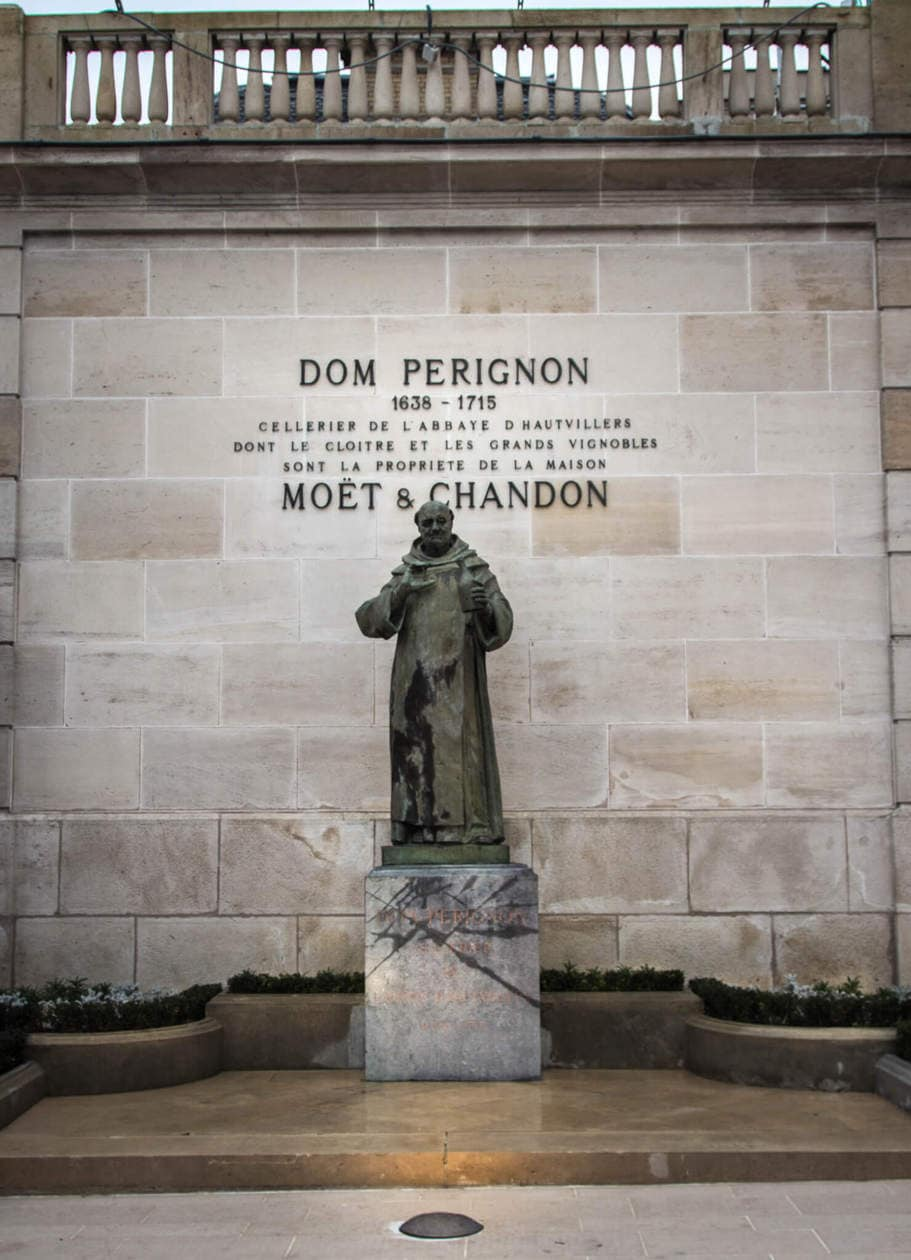 Dom Perignon Statue, Epernay