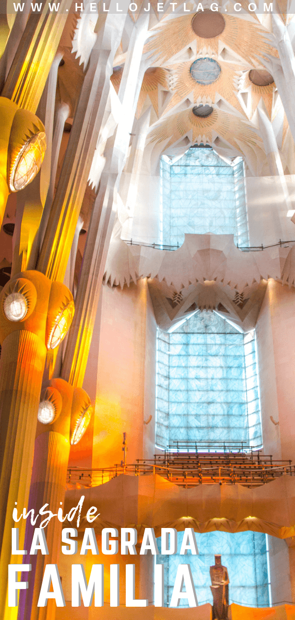 Everything you need to know for a visit to Barcelona's La Sagrada Familia. Interior & exterior photos, tips for visiting, plus the best time of day to go.