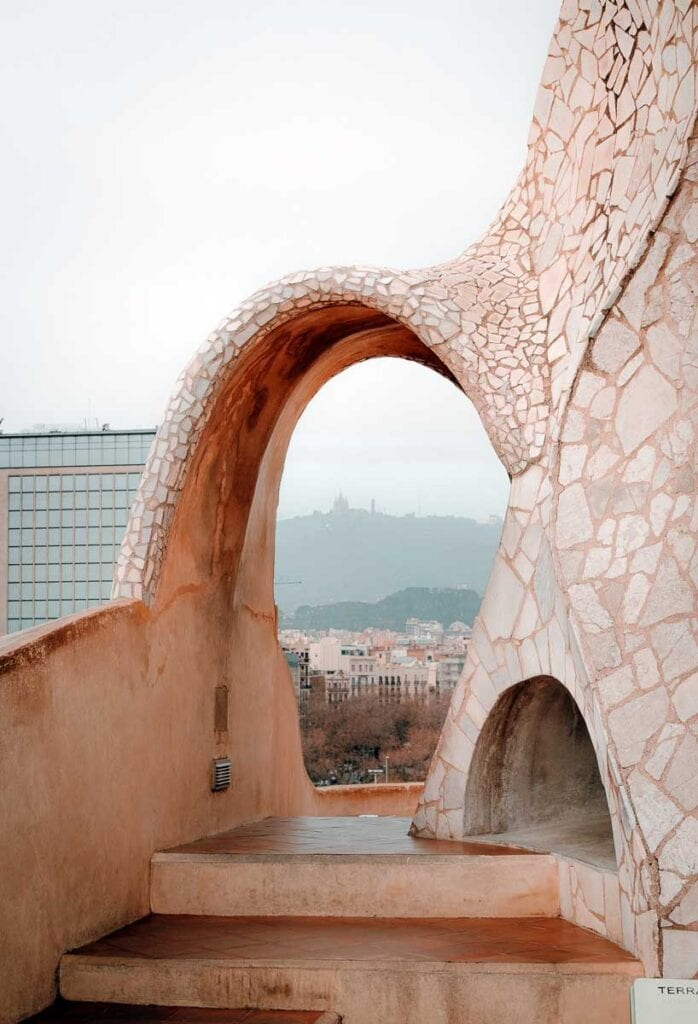 View of Mt. Tibidabo from Casa MIla