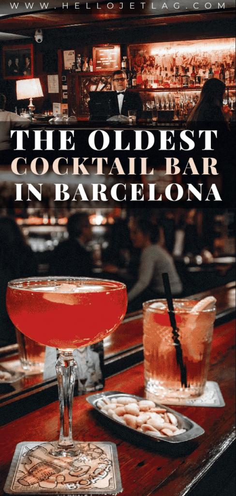 The oldest cocktail bar in Barcelona, Las Boadas, is an art deco, vintage style bar that is a must visit hidden gem on Las Ramblas.