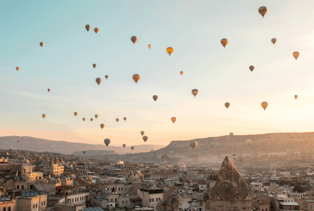 Cappadocia Hot Air Balloons | View from Mithra Cave Hotel