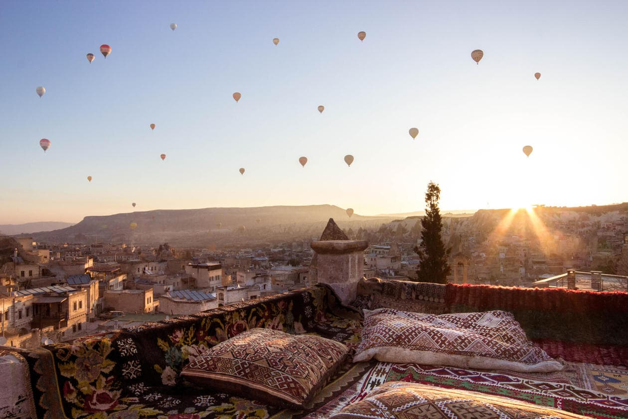 Where to watch the hot air balloons in Cappadocia