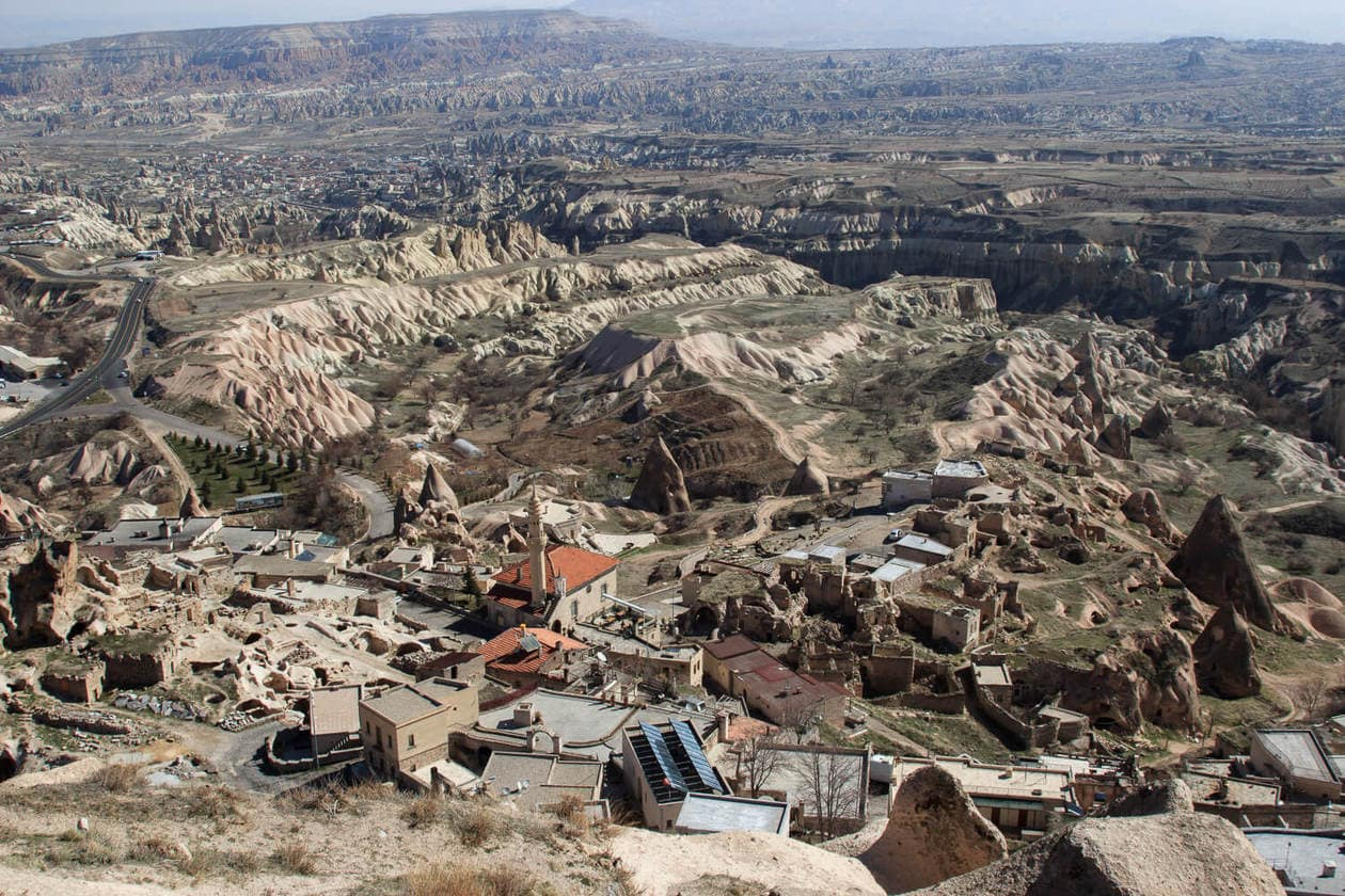 View From Uchisar Castle, Cappadocia