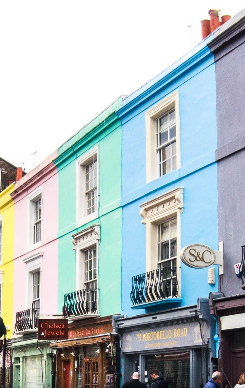 Colorful Portobello Road, Notting Hill