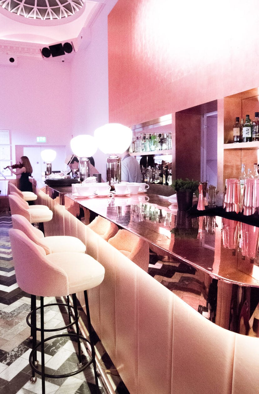 Inside London's most photogenic restaurant. Keep reading for more information about Sketch Afternoon Tea in their famous pink restaurant, The Gallery.