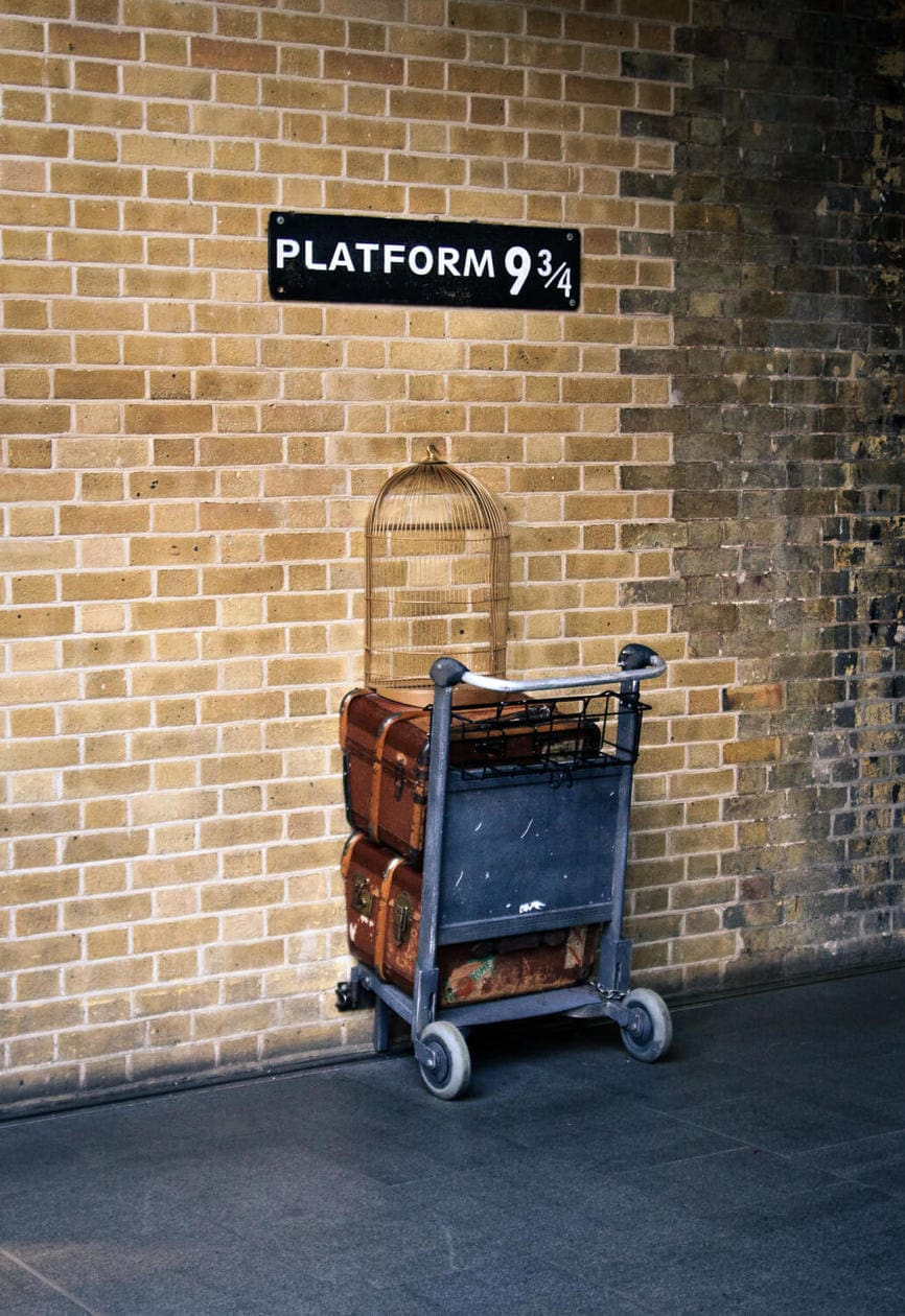 Harry Potter Platfrom at King's Cross in London