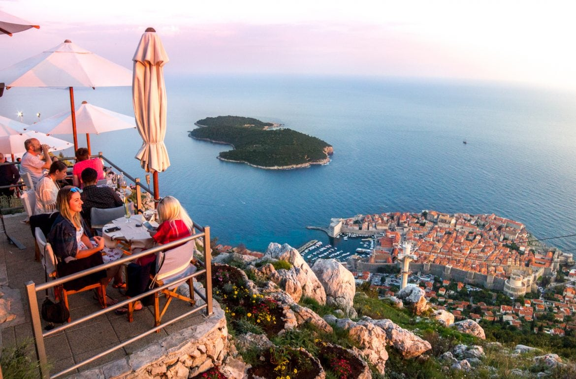 dubrovnik 39 s panorama restaurant has the best dinner views ever. Black Bedroom Furniture Sets. Home Design Ideas