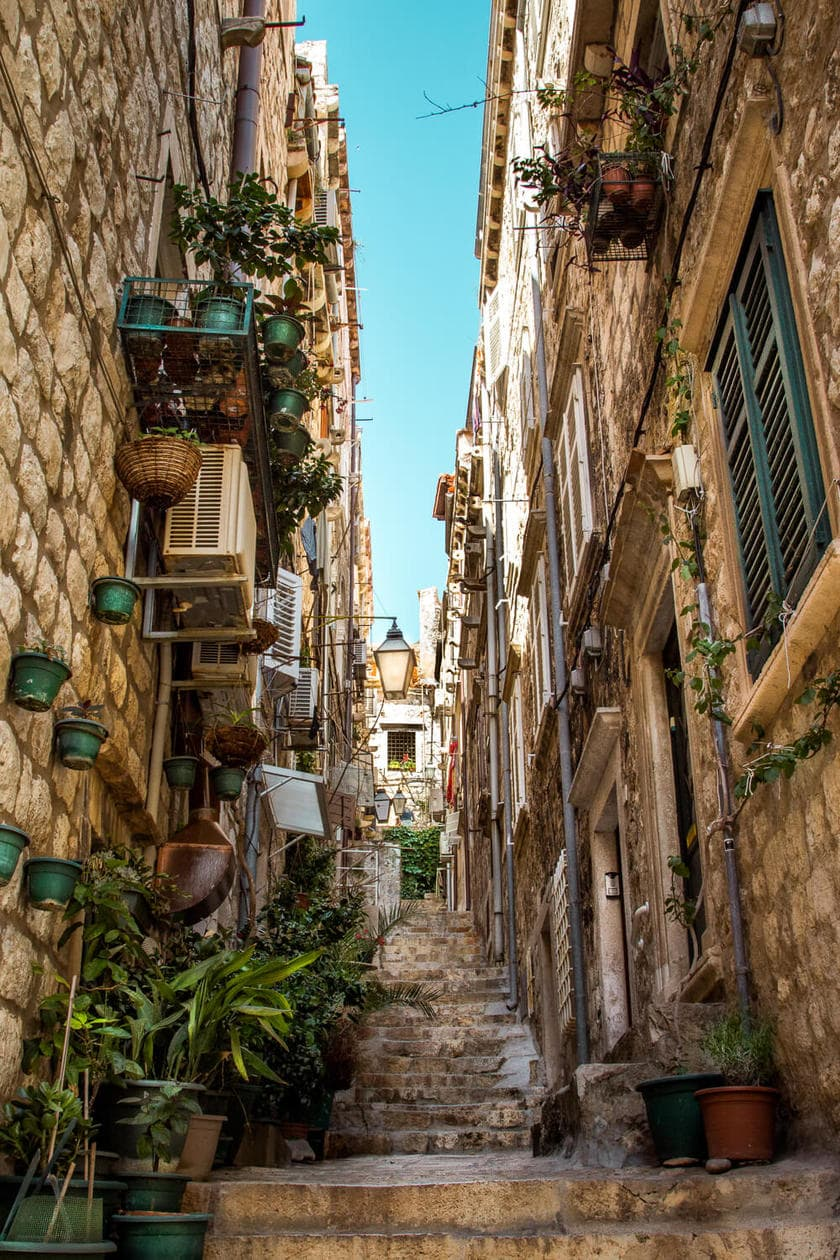 Old Town Dubrovnik Narrow Alleys