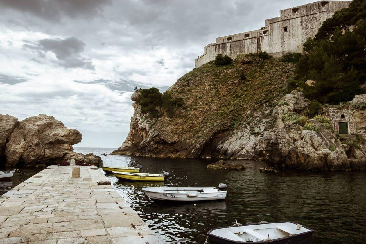 Pile Bay in Dubrovnik, Croatia