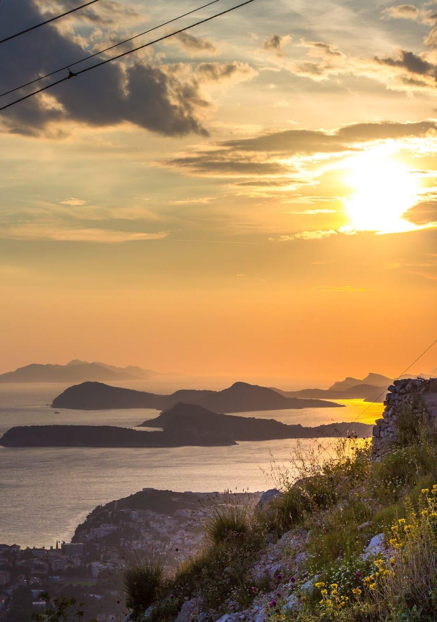 Elafiti Islands from Panorama Restaurant