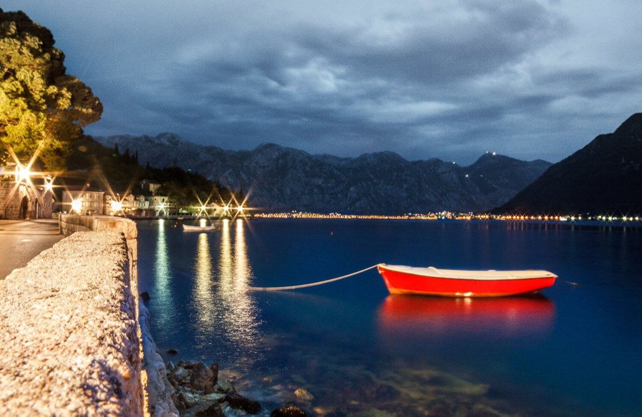 Perast Montenegró at Night