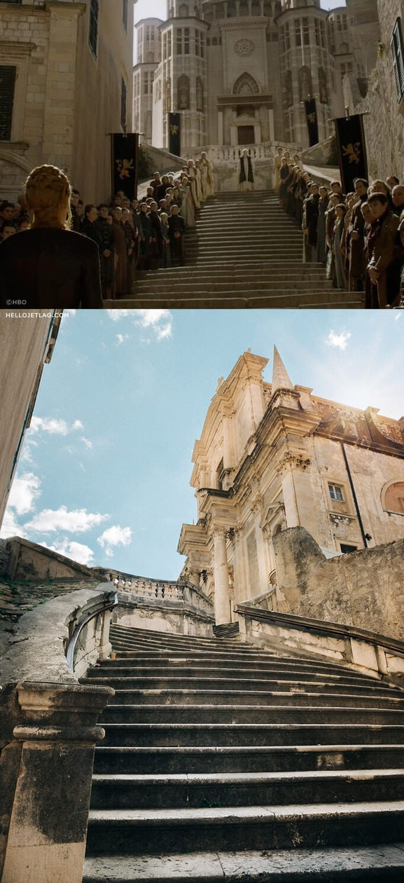 Dubrovnik Game of Thrones: Jesuit Staircase aka The Great Sept Steps