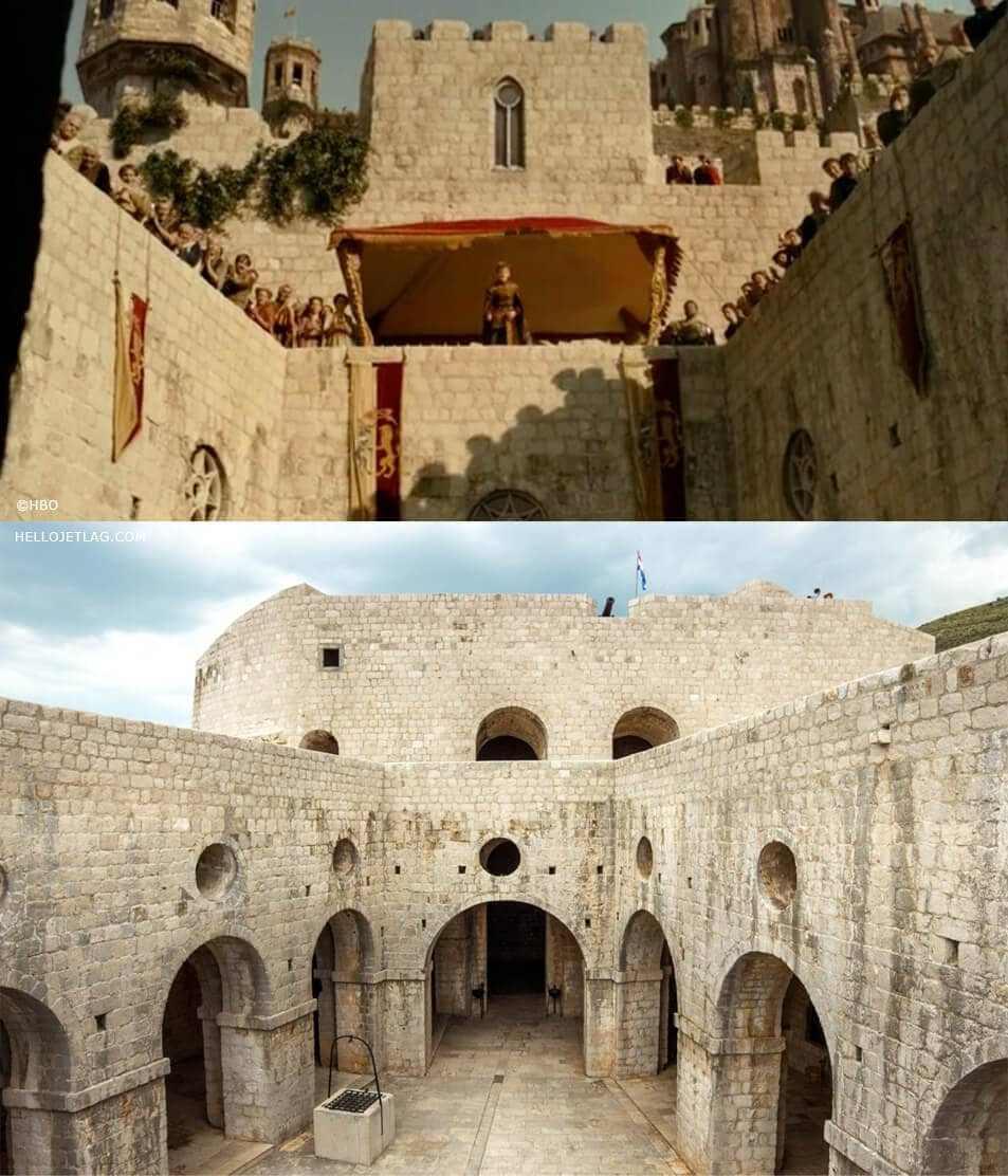 Fort Lovrijenac aka Game of Thrones Red Keep Location