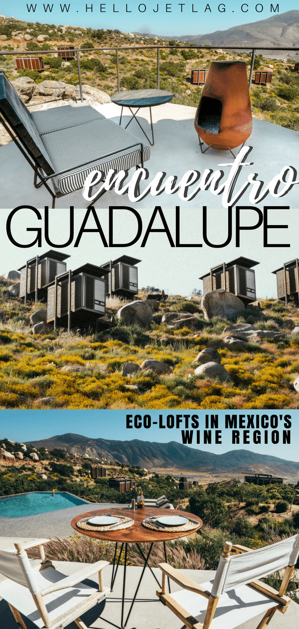 Encuentro Guadalupe is one of the most unique Valle de Guadalupe hotels and winery. From their suspended eco-friendly design, to the private guest pool and bar, read all about these modern eco lofts.
