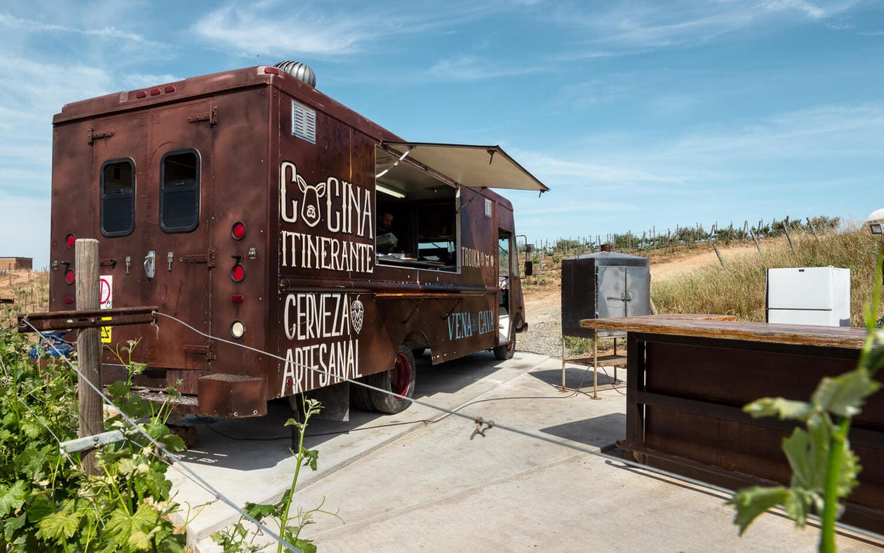 Valle de Guadalupe Wineries - Troika Food Truck