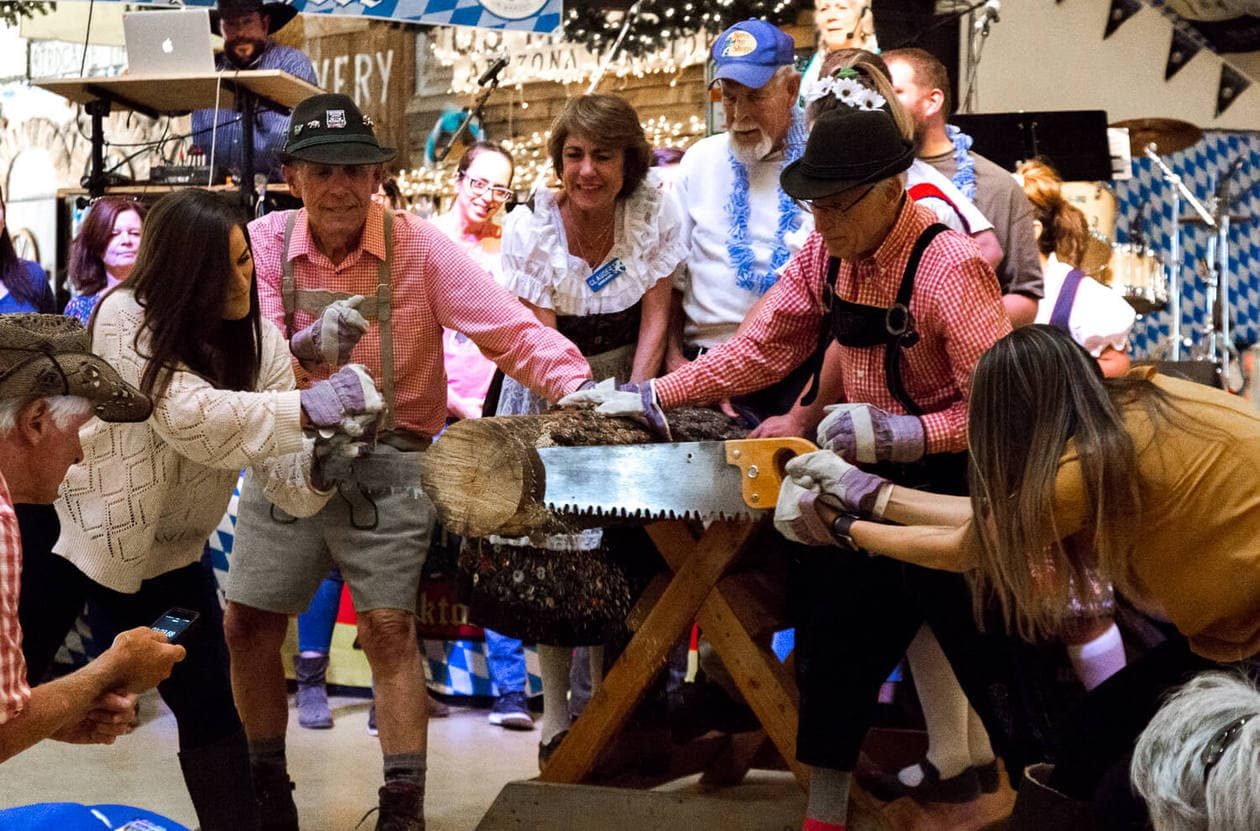 Big Bear Oktoberfest Log Sawing Contest