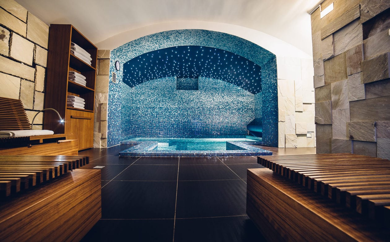 Pool at Gallery Park Hotel and Spa in Riga, Latvia