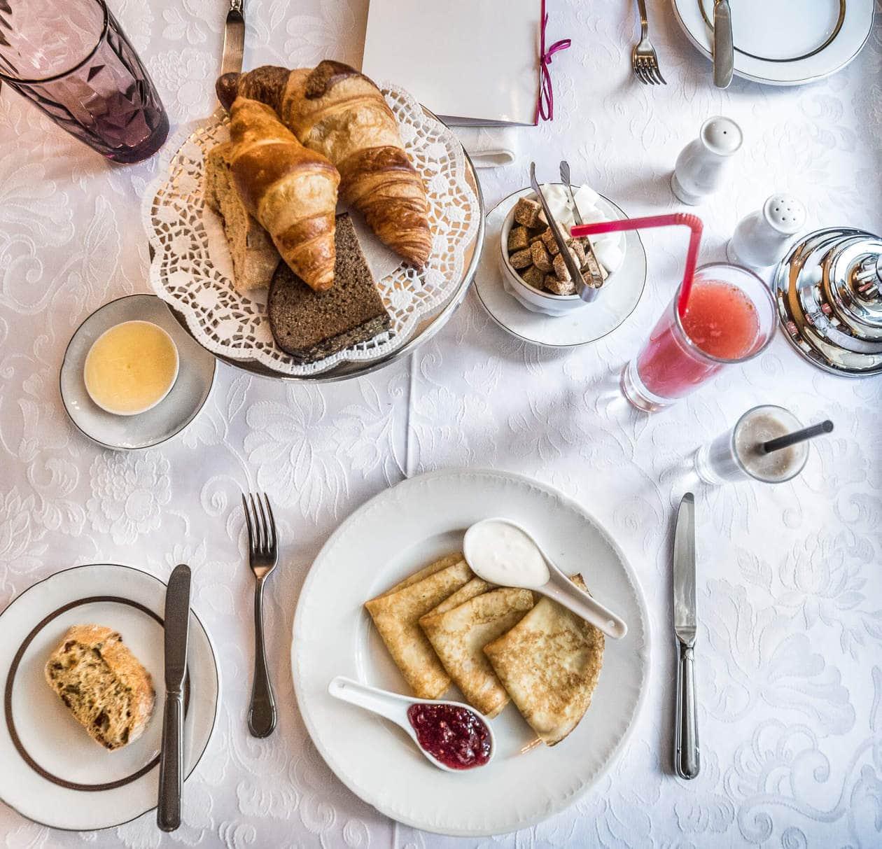 Hotel Breakfast at Gallery Park Hotel and Spa in Riga, Latvia