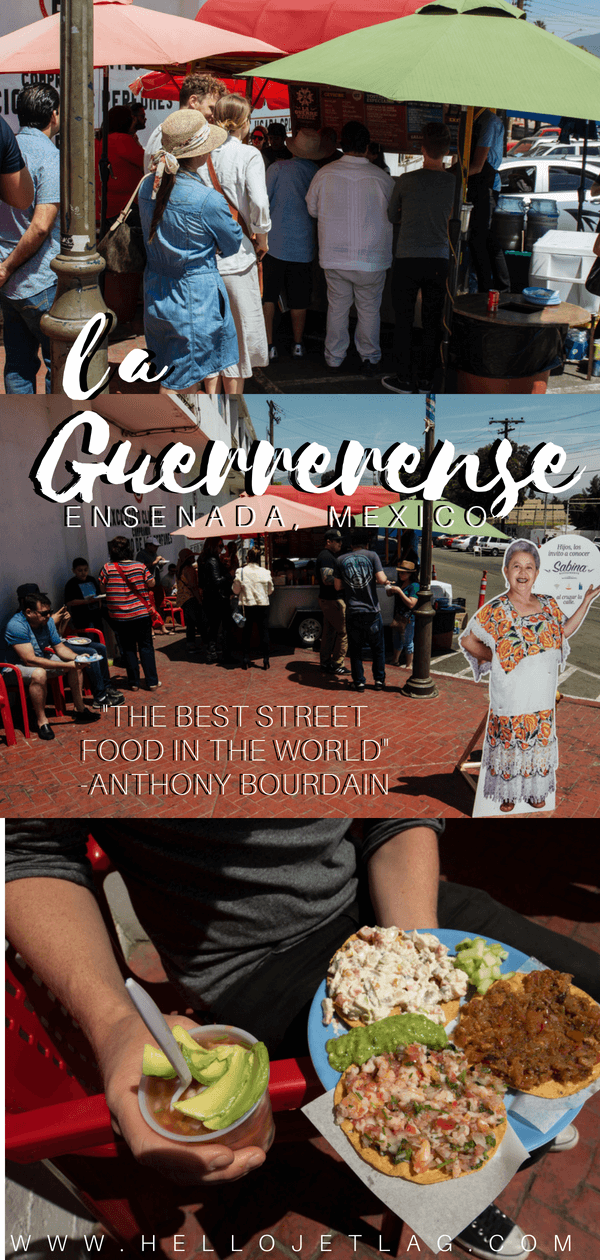 """La Guerrerense is the famous streets carts in Mexico. Anthony Bourdain even called them the """"best street food in the world"""" and they hold international awards for their famous seafood tostadas. Keep reading for more information about this Ensenada legend, including tips for visiting and more."""