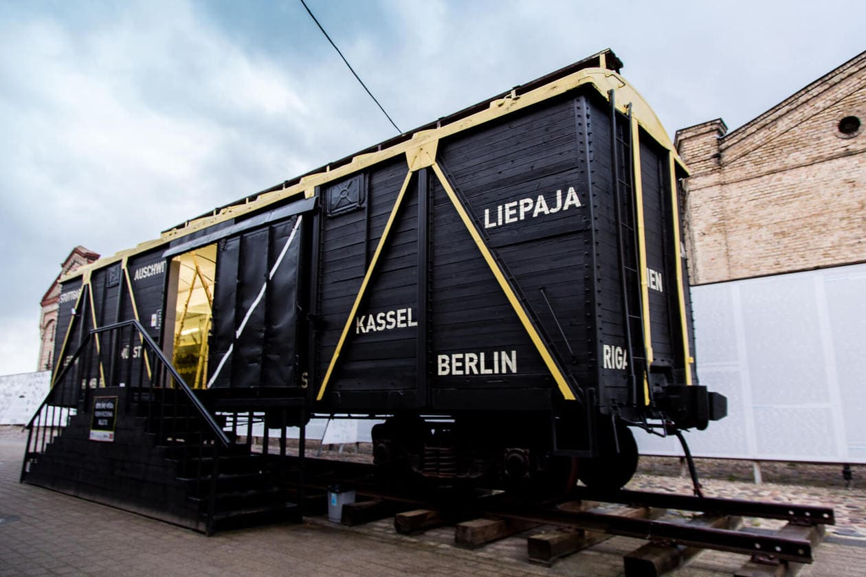Train Car at The Latvian Holocaust Museum in Riga