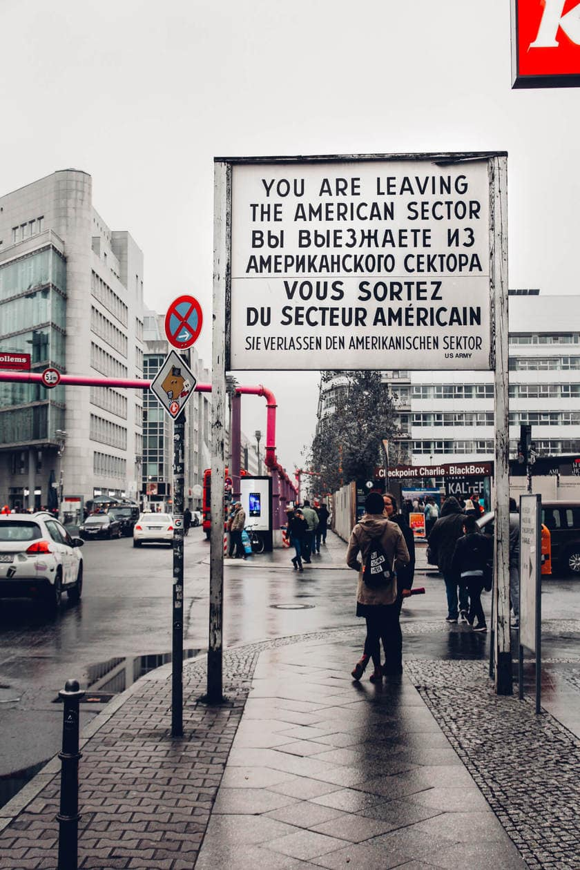 the cold war in berlin a visit to checkpoint charlie. Black Bedroom Furniture Sets. Home Design Ideas