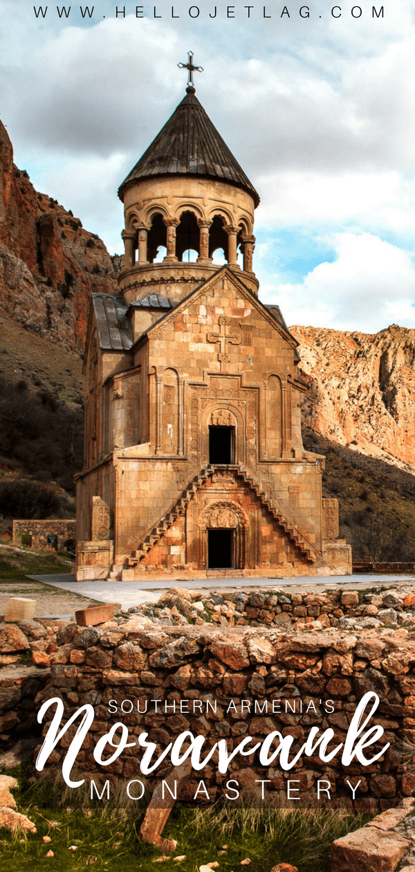 A visitor's guide to Noravank Monastery // Noravank is a beautiful Armenian monastery in the Vayots Dzor province of Southern Armenia. Visit the three churches: St. Karapet Church, Surb Astvatsatsin Church and St. Stepanos Church.