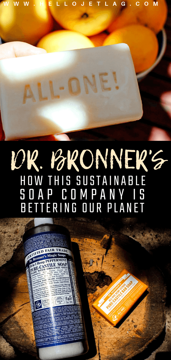 From the local community levels to a global scale, Dr. Bronner's is making a huge difference in the world, and is the epitome of a true, eco-friendly brand. Keep reading to learn about their environmental, fair trade and organic practices, as well has how I use their liquid castile soap / bar soap to clean my makeup brushes and beauty blenders. And discover why it's the perfect soap for traveling.