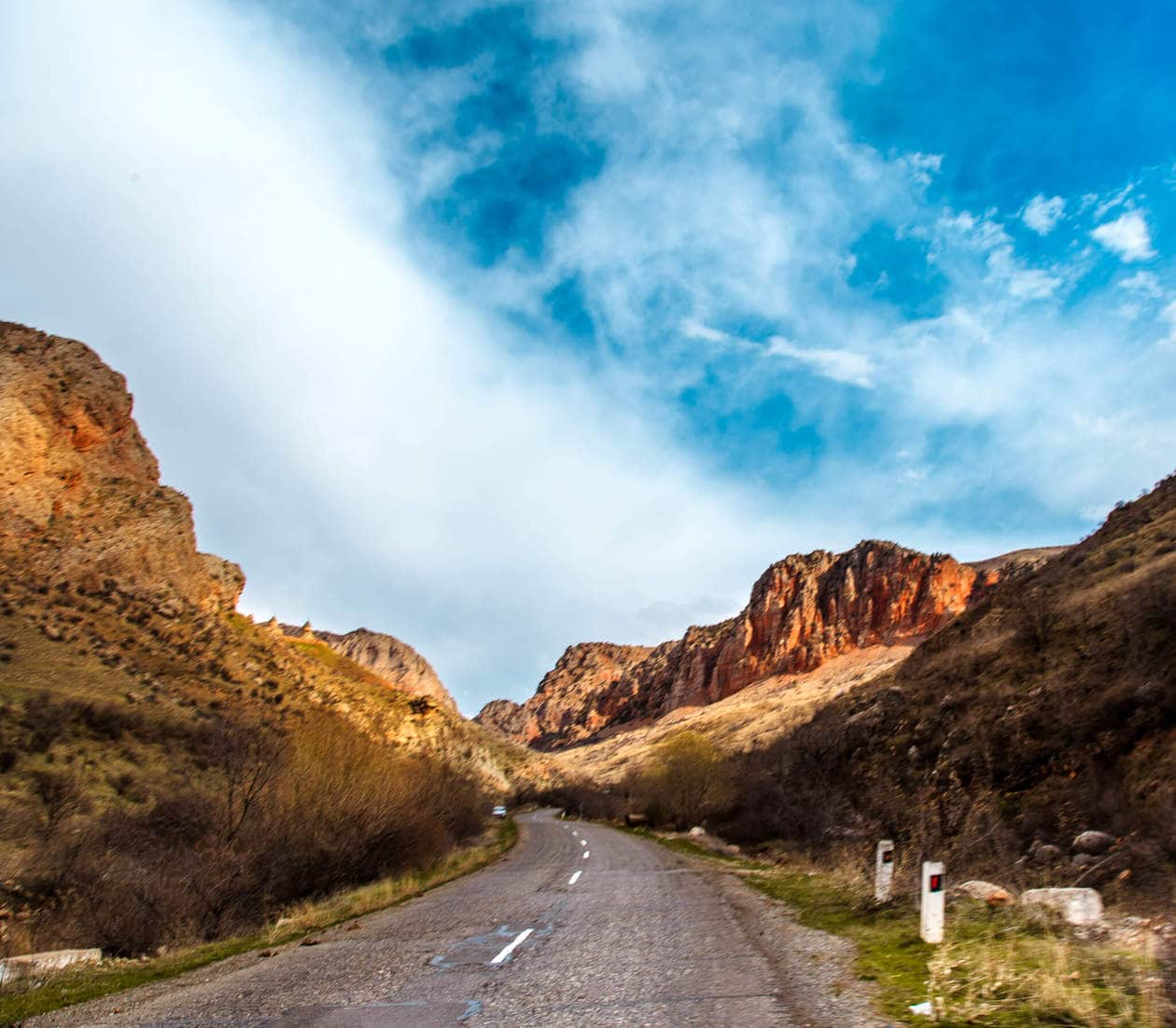 The road to Noravank Monastery // A Must Visit Religious and Historical Monastery Complex situated on a cliff within a gorge created by the Amagu River. Noravank Monastery is located in Southern Armenia near Areni (on the way to Jermuk).