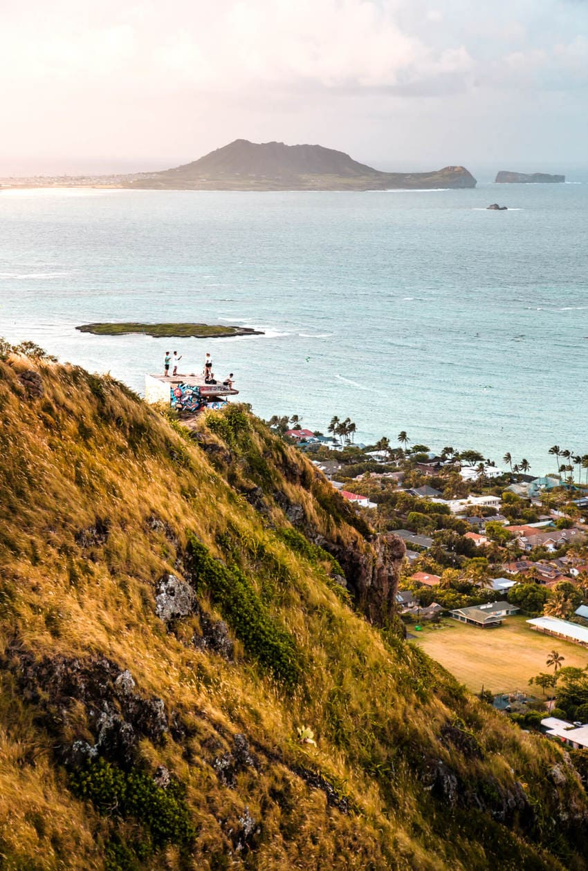 The Lanikai Pillbox Hike (aka the Kaiwa Ridge Trail) is a short and popular hike leading to 2 old military bunkers in Hawaii; and It's considered one of the easiest hikes on Oahu. Keep reading for information about the trail, how to get here, tips for visiting, plus photos of the incredible view and more.