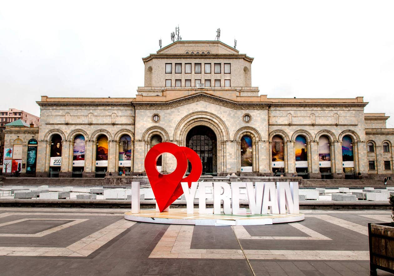 Republic Square // Where to try Armenia's legendary brandy, find the best deals on locals souvenirs and discover the best view of the The Pink City (best seen during sunset!). Keep reading for a list of the top things to do in Yerevan, plus 5 hotels to fit any budget.