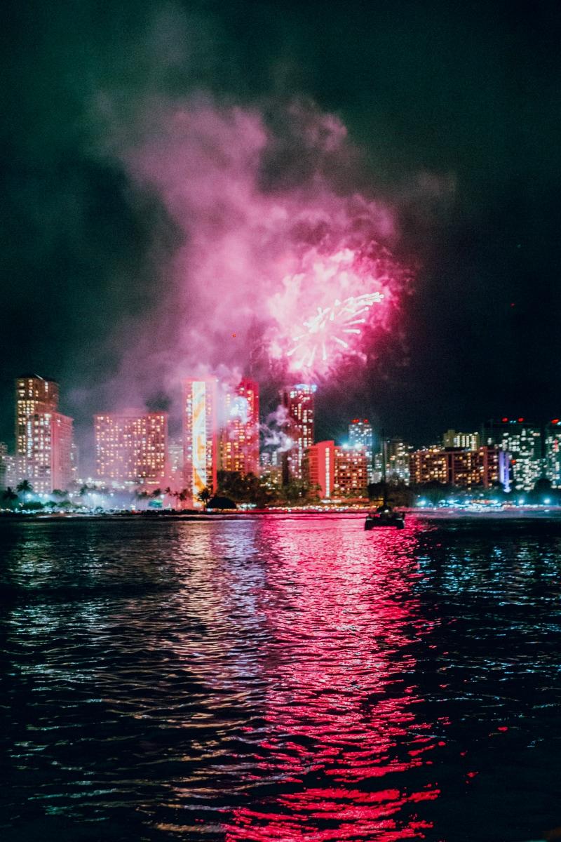 Hilton Hawaiian Village Fireworks Show