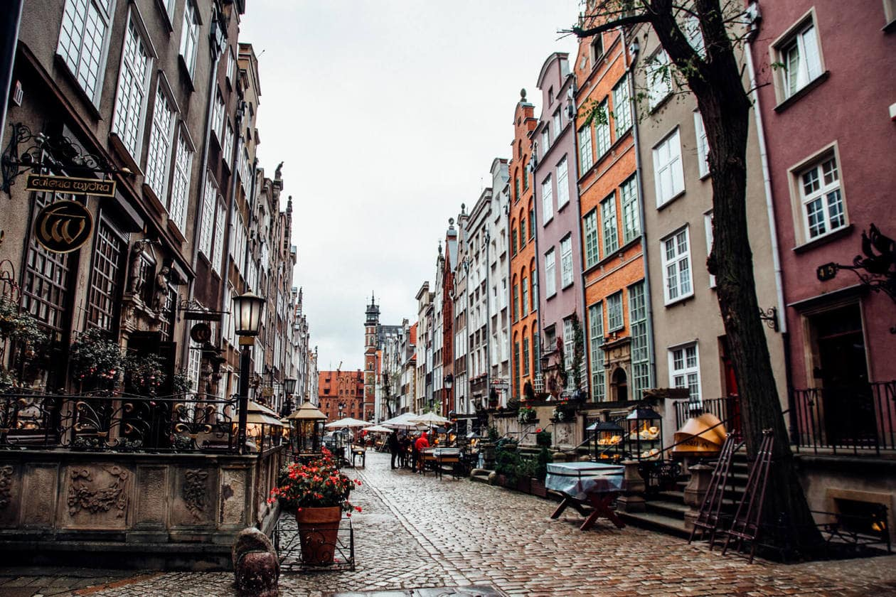 Ulica Mariacka in Old Town Gdansk