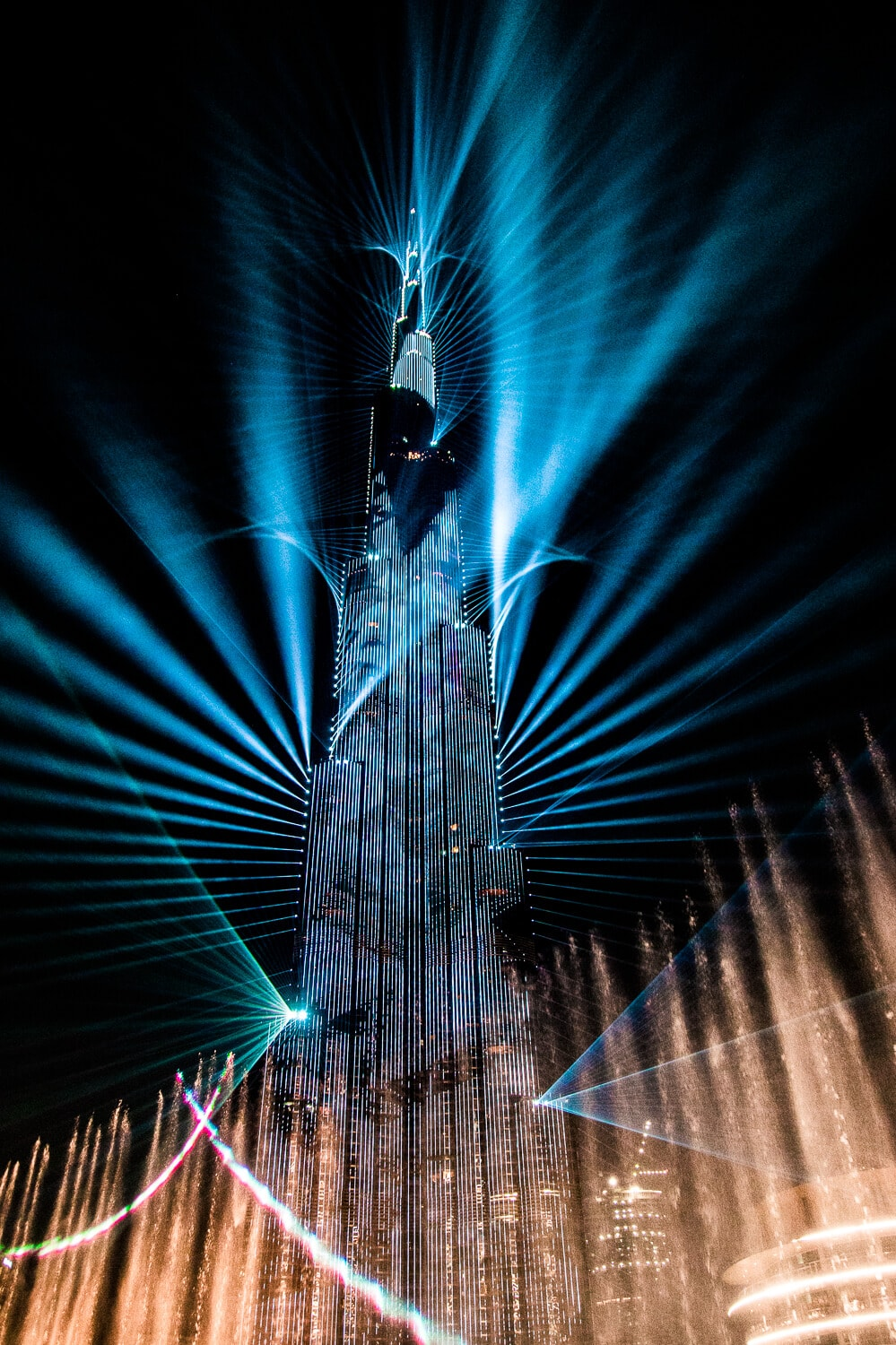 The Burj Khalifa Light Show