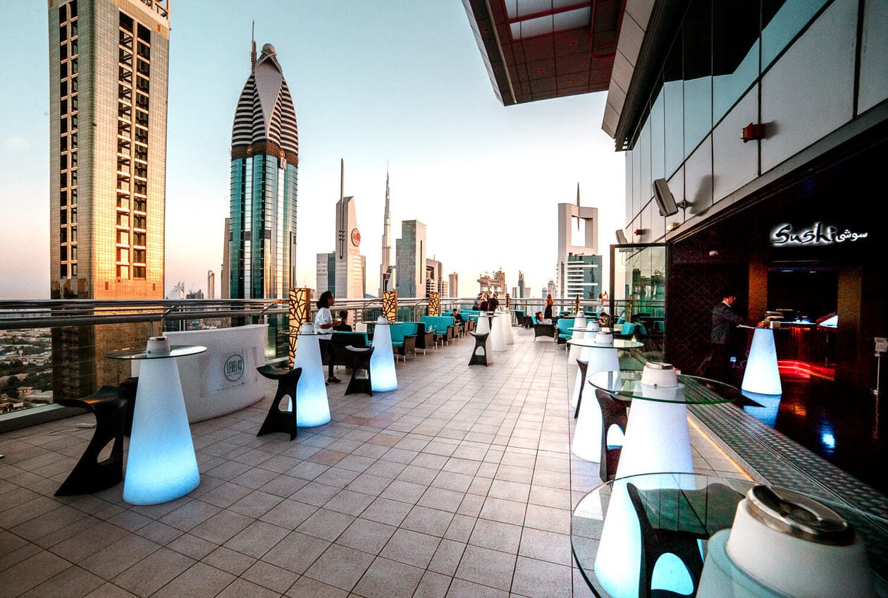 Level 43 Sky Lounge // A list of the top 10 things to do and places to visit in Dubai. From rooftop bars, to beaches, plus where to find the best views and more.